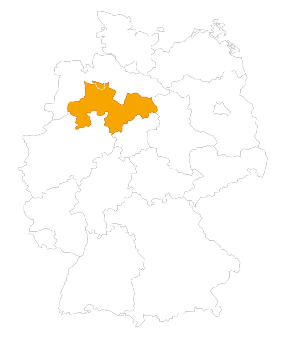 Karte der Region Hannover