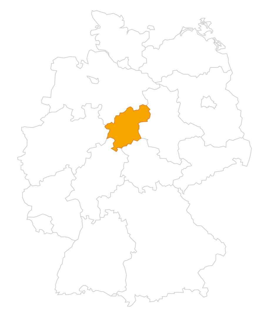 Karte der Region Südniedersachsen