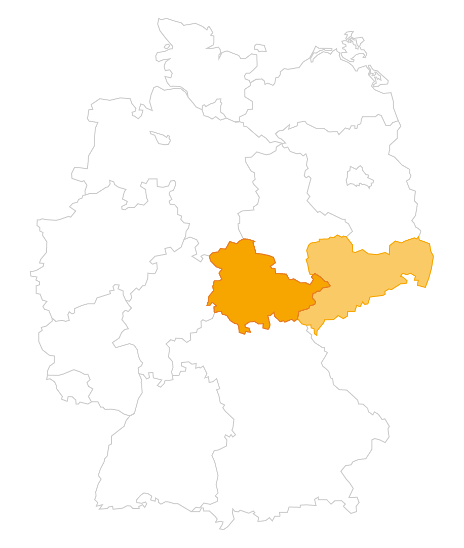 Karte der Region Thüringen