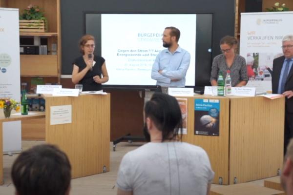 Foto einer Präsentationsrunde